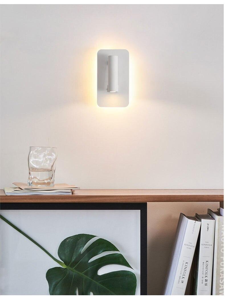 controle 8 w arandela luz da parede