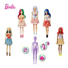 Barbie cor revelar boneca foodie temático boneca temperatura detecção descoloração 7 tipo surpresas caixa cega brinquedos crianças presente gtp41