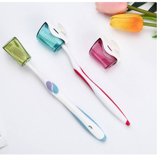 6pcs Toothbrush Cap Holder Dustproof Wall Mount Toothbrush Cap Cover Rack for Hotel Bathroom Home
