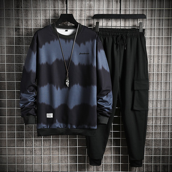2021 Men's Sets Casual Sportswear Tracksuits Sets New Men Sporting Hoodies+Pants Sets Outwear Male Hooded Sports Suits Patchwork 3