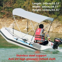 1.4x1x1.1M Foldable Anti UV Fishing Rubber Inflatable Top Boat Cover Tent Sun Rain Shelter Sunshine Protection Boats Accessories