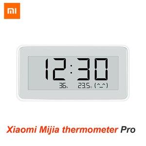 Image 1 - Xiaomi reloj eléctrico inteligente inalámbrico Mijia BT4.0, Digital, termómetro de interior e higrómetro de exterior, herramientas de medición de temperatura LCD