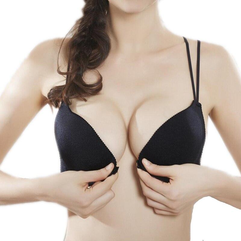 Kobiety z powrotem upiększyć panie z przodu zapięcie na druty darmowe modny biustonosz Sexy wyściełana bielizna Bralette zebrać Push Up dla małych piersi - aliexpress