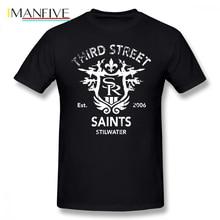 Saints Row T Shirt Saints Row 3 Tribute Distressed White T-Shirt Plus size  Summer Tee Shirt 100 Percent Cotton Fun Tshirt цена