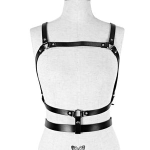 Image 1 - UYEE Dropshipping Fashion Women Garters High Quality Leather Harness Sexy Lingerie Belts Body Bondage Erotic Dress Straps LB 142