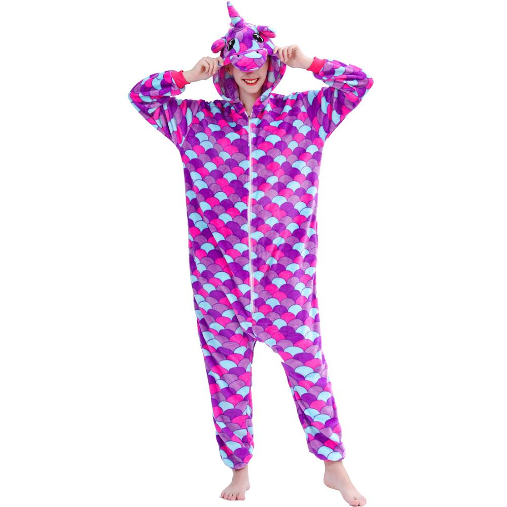 Image 3 - Women Pajamas Pyjamas Adults Flannel Sleepwear Homewear Kigurumi Unicorn Stitch Panda Tiger Cartoon Animal Pajama Sets PijamasPajama Sets   -