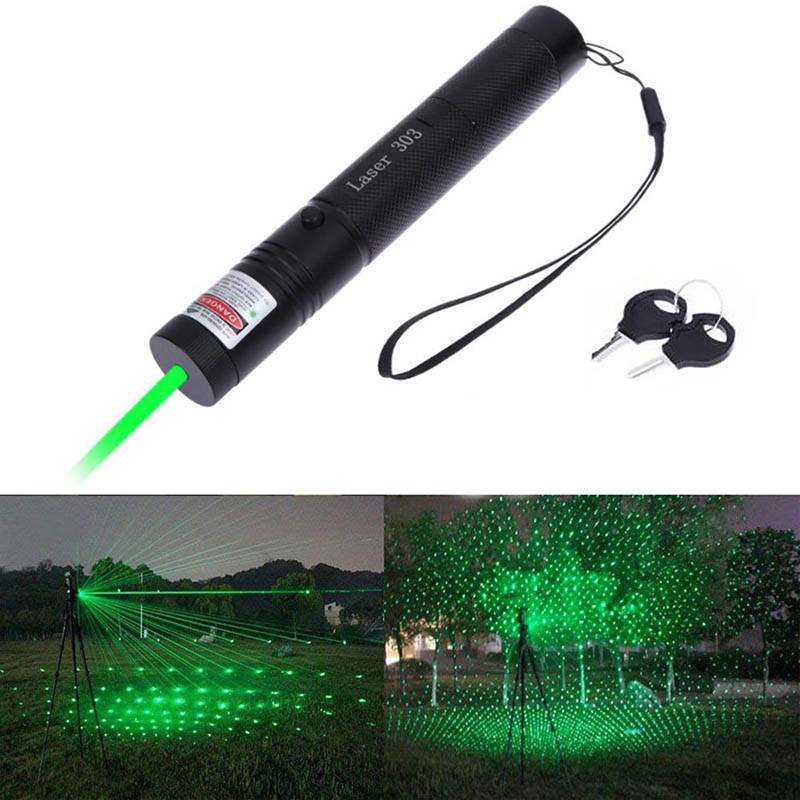 Hunting Light 303 5mw Red Green Laser Pointer Pen 10000m 532nm Laser Sight High Powerful device Adjustable Focus