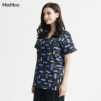 Cotton Scrubs Tops pet grooming Uniform work clothes Cartoon printing scrubs shirt beauty Salon working clothes women scrubs Set
