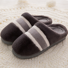 Large Size 45-46 Mens Slippers Winter Suede Soft House for Men Memory Foam PVC Plush Rubber