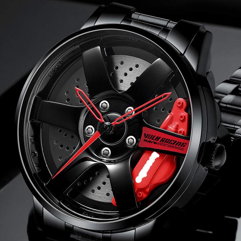 NIBOSI Wheel Rim Hub Watch Custom Design Sport Car Rim Watches Waterproof Creative Relogio Masculino 2020 Watch Man Wrist Watch 3