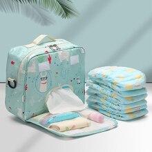 Diaper-Bag Wetbag Maternity-Nappy-Bag Single-Shoulder-Bag Large Waterproof