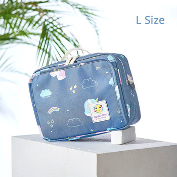Sunveno Baby Diaper Bags Maternity Bag for Disposable Reusable Fashion Prints Wet Dry Diaper Bag Double Handle Wetbags 21*17*7CM 23