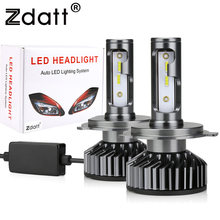 Zdatt 2 Stuks Auto Led Licht H1 HB3 HB4 H11 H4 H7 Led Canbus Koplamp Lamp 6000K 80W turbo 12V 16000LM 9005 9006 Auto Head Lamp