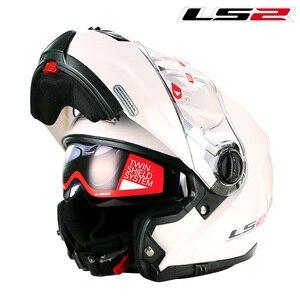 Image 5 - LS2 FF325 стробоскоп С Откидывающейся Крышкой Moto rcycle шлем для мужчин модульный гоночный шлем capacete ls2 шлем casco moto cascos para moto DOT casque moto
