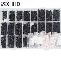 Metric Thread Black Nylon Pan Head Cross Screw Flat Head Machine Screw Assortment KitsM2 M2.5 M3 M4 M5 M6