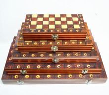 3-in-1 Chess Magnetic Backgammon Checkers Set Foldable Board Game International Chess Folding Board Game Kins Gift Entertainment