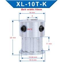 XL 10T зубчатый шкив, диаметр 4/5/6/6.35 мм шаг зубьев 5,08 мм Алюминиевый шкив ширина зубьев колеса 11 мм для зубчатой ленты 10 мм XL