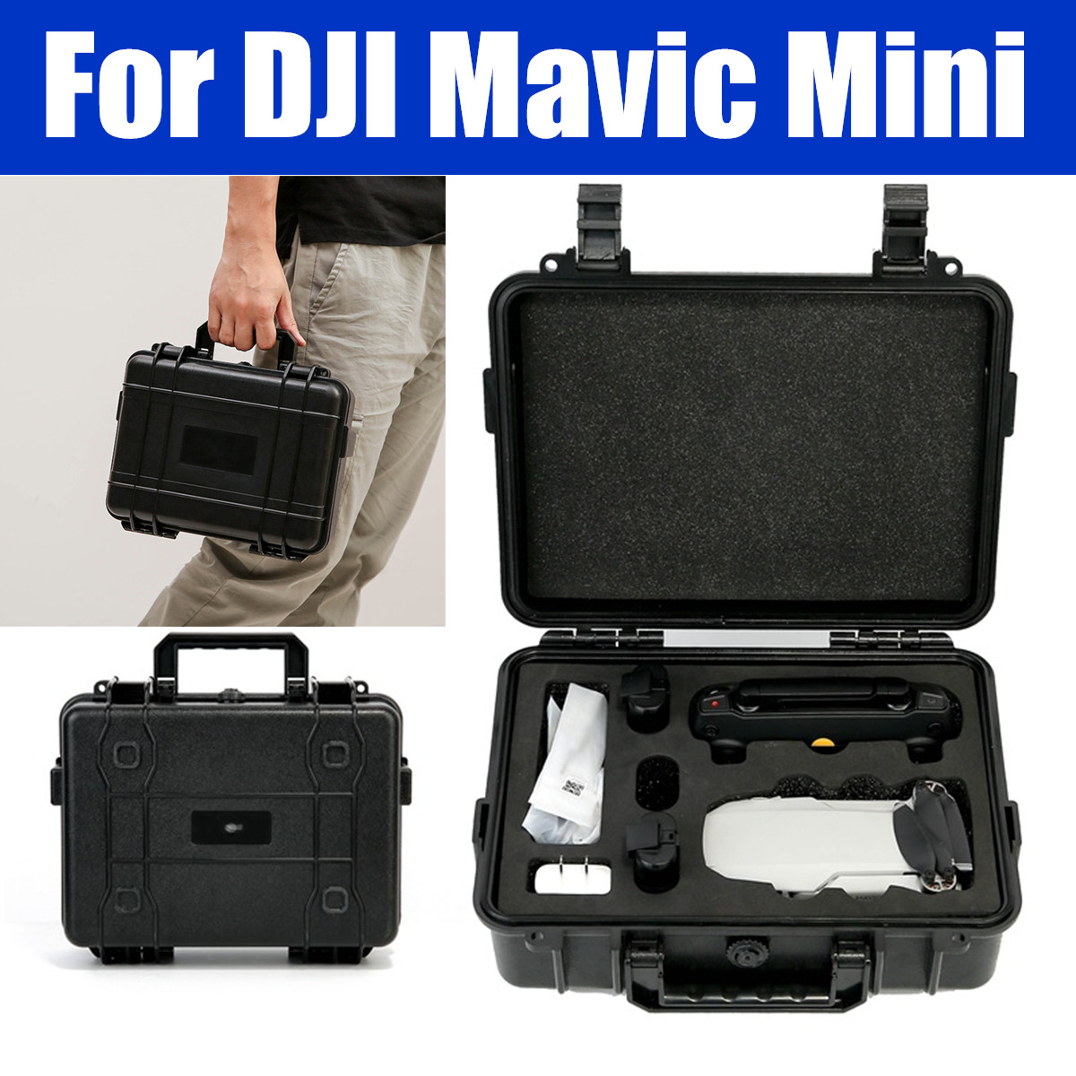 Portable Hard Carrying Case Storage Bag For DJI Mavic Mini Drone & Accessories Explosion-proof Shockproof Hardshell Drone Boxes