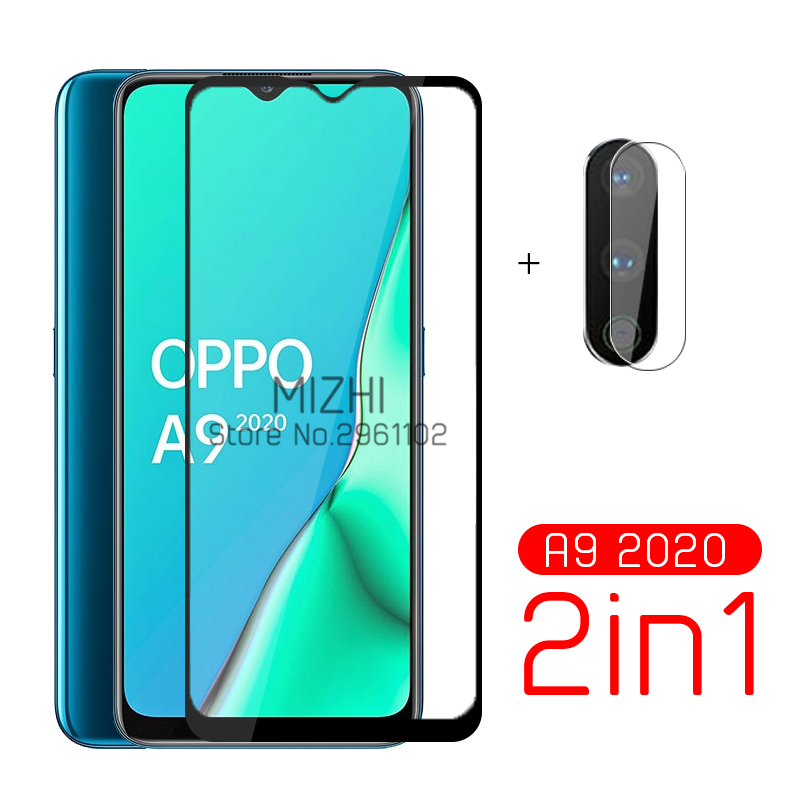 2in1 Protective Glass For Oppo A9 2020 Camera Screen Protector For Oppo A 9 A9 2020 9a 6.5inch Safe Tempered Glass Film