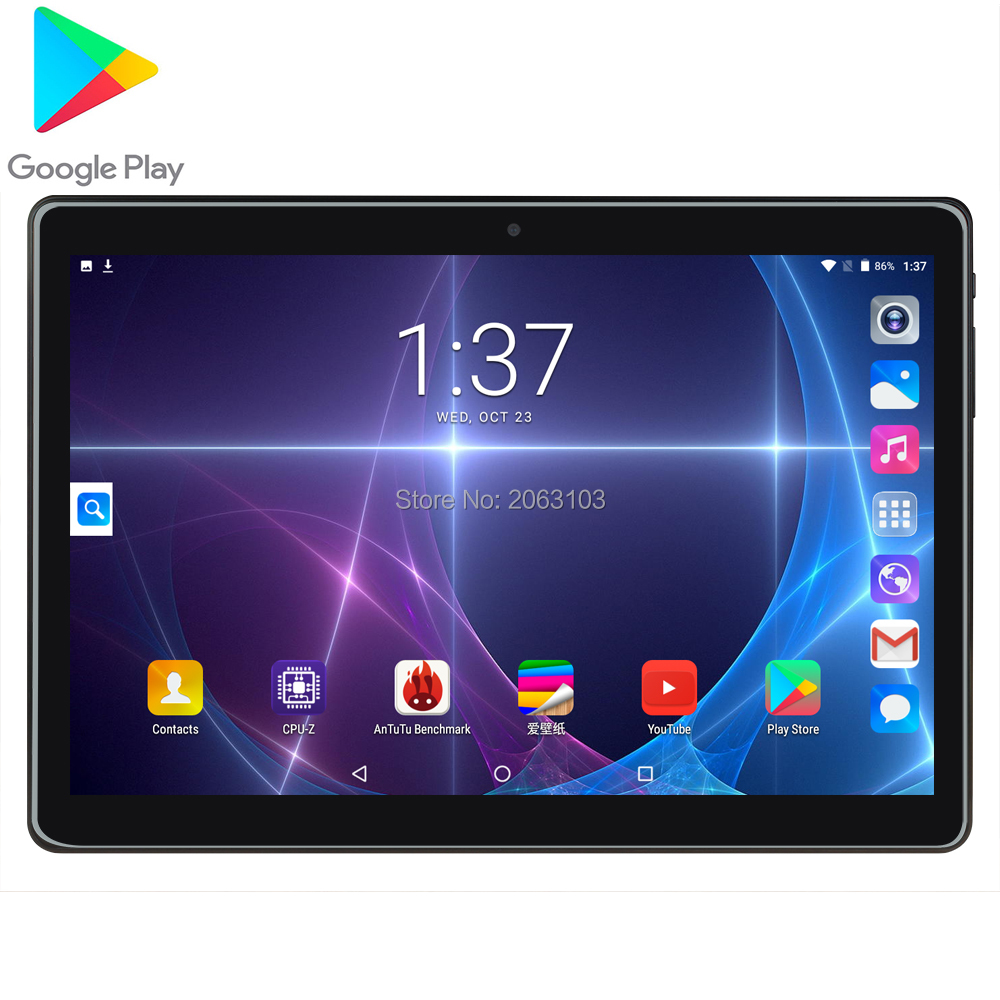 Super Tempered 2.5D Glass 3G Phone Call 10 Inch Tablet Pc RAM 2GB+32GB ROM 1280x800 IPS Screen WIFI Netflix Android 7.0 GPS