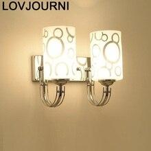Sconce Kinkiety Luminaire Candeeiro Parede Deco Mural Mirror Lampara De Interior Aplique Luz Pared Led Bedroom Wall Light