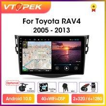 Автомагнитола Vtopek, мультимедийный видеоплеер 9 дюймов, 4G + WiFi, Android 10,0, GPS-навигация для Toyota RAV4 Rav 4 2005-2013, головное устройство 2 din