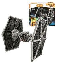 10900 star series guerras tie fighter bloco de construção 550 peças tijolos brinquedos
