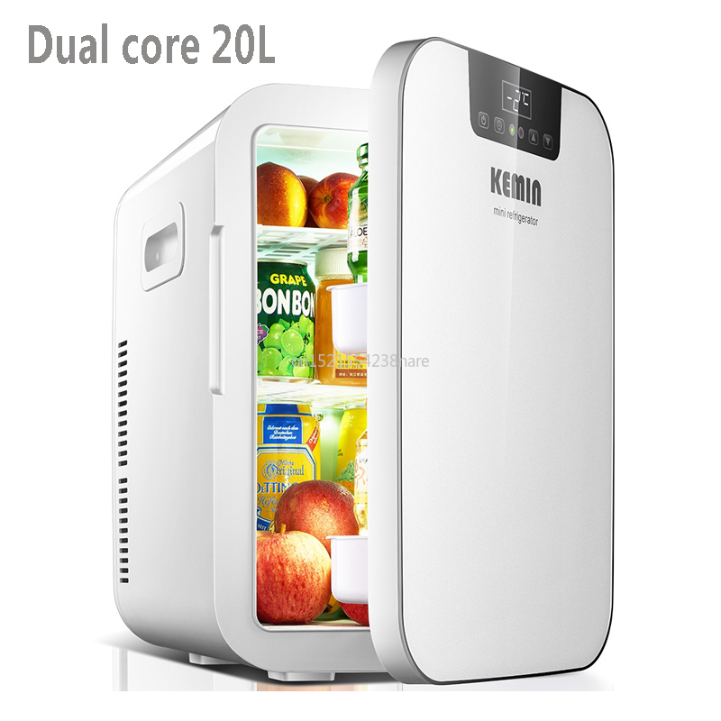 20L Refrigerator Car Refrigerator Mini Small Home Dormitory Home Car Dual-use Student Single-door Kemin 20L Small Refrigera