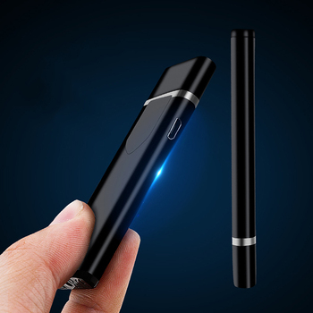 Electric Lighter USB Rechargeable Portable Windproof Smoking Accessories Tools Multicolor Lighters Ultra-thin 1