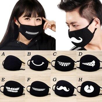 2020 Men Women Cotton Dust Mask Cartoon Expression Teeth Muffle Respirator Anti Kpop Bear Facemask Face Mouth Mask