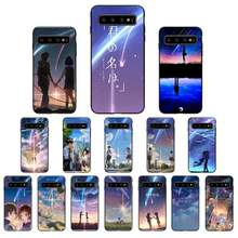 Japoński Anime twoje imię Kimi nie Na wa etui Na telefony do Samsung Galaxy S10E S20 Ultra S10 S21 S7 S8 S9 Plus S21 Plus S20FE
