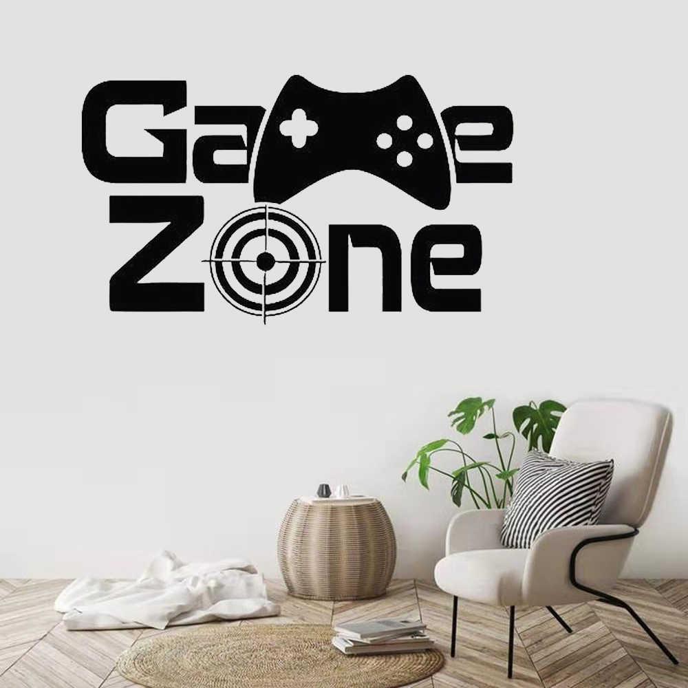 Gamer Wand Aufkleber Spiel Zone Wand Decor Video Vinyl Wand Aufkleber für Kinder Zimmer Abnehmbare Home Dekoration Kunst Wandbild