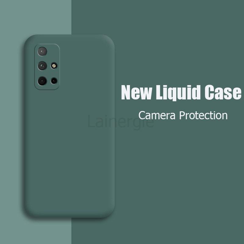 Для Samsung Galaxy M51 чехол из жидкого силикона мягкий матовый защитая крышка для Samsung M51 A52 A72 A42 A12 5G телефонные чехлы