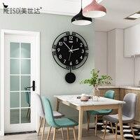 Meisd pêndulo preto grande relógio de design moderno qualidade acrílico decoração da casa relógios parede quartzo quarto horloge frete grátis