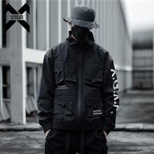 11 BYBB'S DARK Black Cargo Jackets Men Streetwear Military Tactical Jacket Multi-pocket Male 2019 Autumn Windbreaker Coat DG445