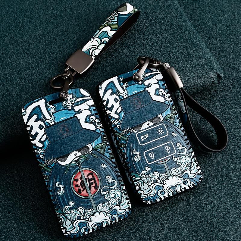 Кожаный чехол для автомобильного ключа чехол для Renault Fluence Duster Megane Kadjar Clio Koleos Scenic Sandero автостайлинг