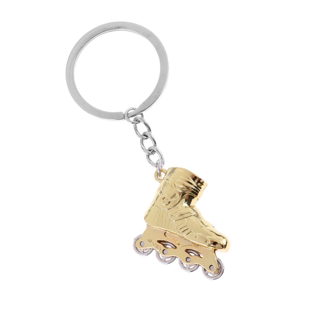 Metal Mini Roller Skate Decor Keychain Key Ring Accessories Festival Gift