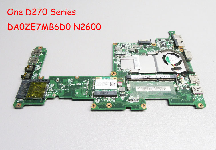 Nenhum dissipador de calor Para Acer Aspire One Série Netbook Motherboard ZE7 D270 MBSGA06002 MB. SGA06.002 DA0ZE7MB6D0 N2600 Trabalho Perfeito