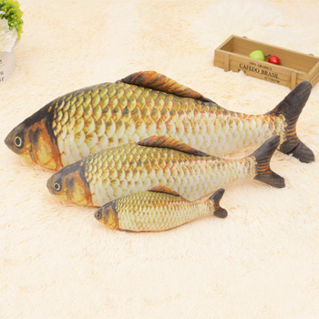 Cat Toy Fish Pillow Simulation Crucian Carp Funny Cat Stick Kitten Tooth Grinding Products Kitten Funny Cat Toy Kitten NN50WJ фото