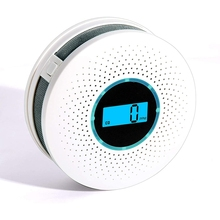 Carbon Monoxide Detector Smoke Detector High Accuracy CO Alarm with Sound Warning and Digital LCD Display