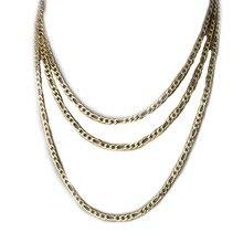 Vnox-Cadena de eslabones cubanos de acero inoxidable, collar de color dorado, plateado y negro, para hombres y mujeres