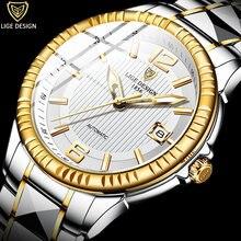 Часы наручные lige Мужские механические Автоматические брендовые