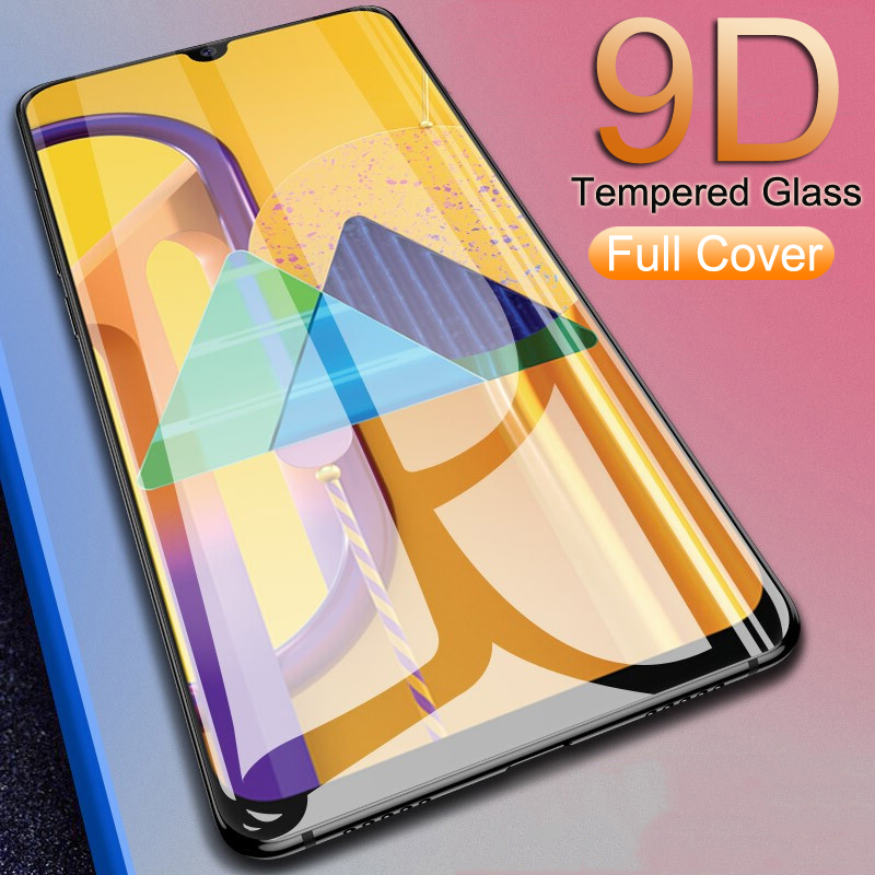 9D Tempered <font><b>Glass</b></font> For <font><b>Samsung</b></font> Galaxy A10 A20 A30 A40 <font><b>A50</b></font> S A10S A20S A30S A40S A50S A20E M10 M20 M30 Full Cover Screen Protector image