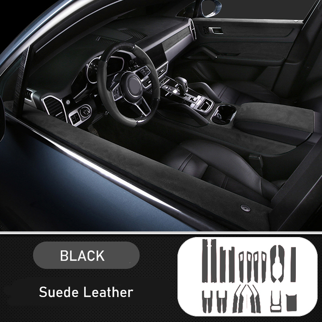 Housse de protection en cuir suédé   Pour Porsche Cayenne 2018 2019 accessoires de voiture