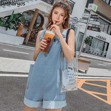 Rompers Women Fashion Korean Style Streetwear Sleeveless Sus