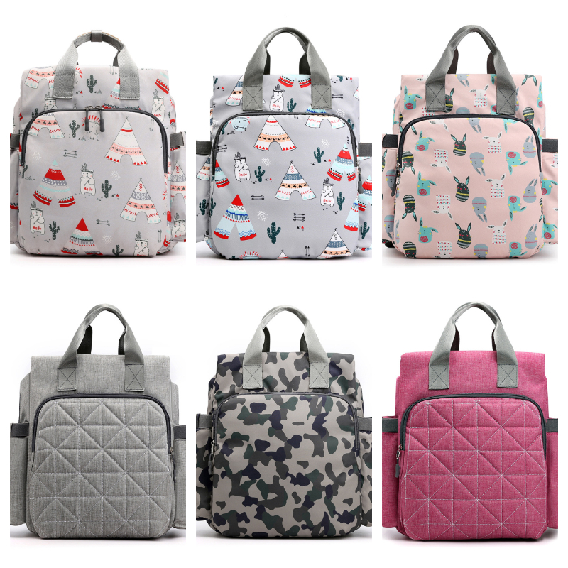 Waterproof Nylon Diaper Bag Fashion Baby Nursing Shoulder Bag Multi-functional Handbag Large Capacity Backpack  Nappy Bag