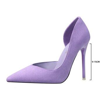 Suede Pointed Toe High Heels 6