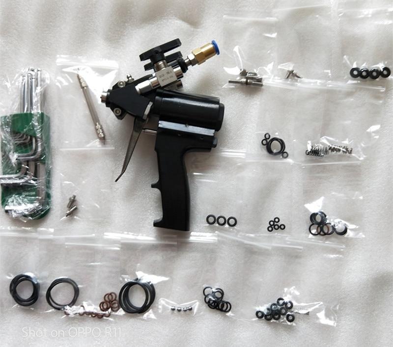 P2 Air Purge Polyurethane PU Foam Insulation Spray Gun With 2 Nozzle And 3 Orings