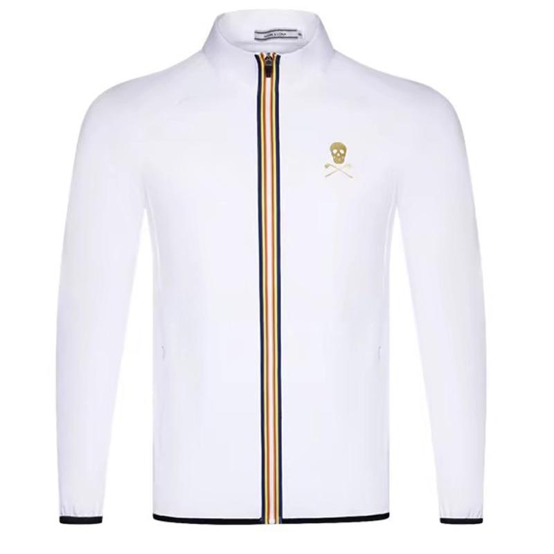 Men's Golf Clothing MARK&LONA Men's Golf Fall/Winter Fleece Windbreaker Jacket Swirling Golf Jacket Golf Shirt Free Shipping