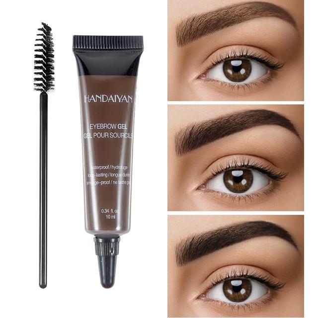 HANDAIYAN 10ml Eyebrow Cream Tattoo Pen with Brush Kit Waterproof Women Makeup Eyebrows Tint Enhancer Gel Eye Brow Dye Cosmetics